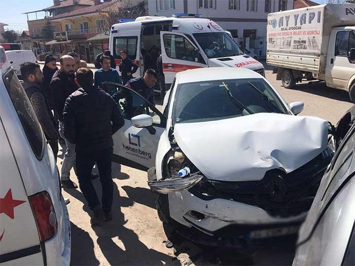 Çayırhan'da Trafik Kazası