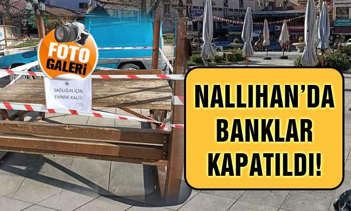 SON DAKİKA Nallıhan'da Banklar Kapatıldı