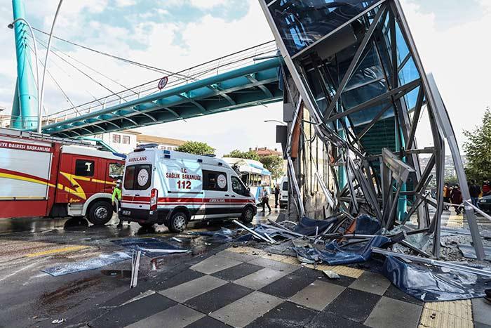 Ankara'da Otobüs Kazası! Ölü ve yaralılar var