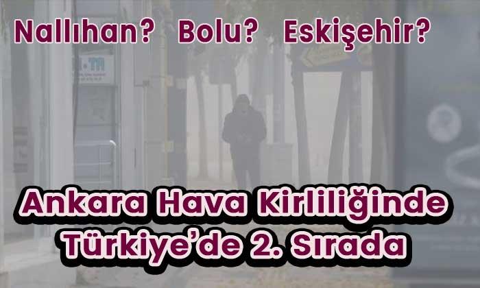 Ankara havası en kötü 2. il oldu! Detaylar haberimizde