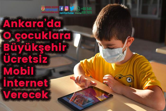 Ankara'da çocuklara ücretsiz mobil internet verilecek