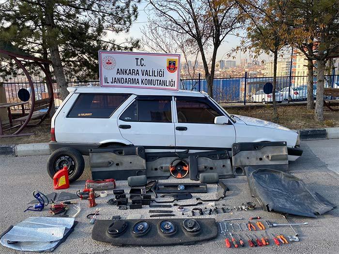 Ankara'da araç hırsızları yakalandı