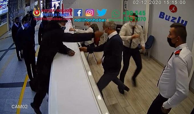 Eskişehir terminalinde saldırı görüntüleri