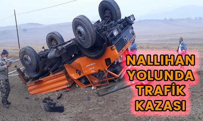 Nallıhan yolunda trafik kazası