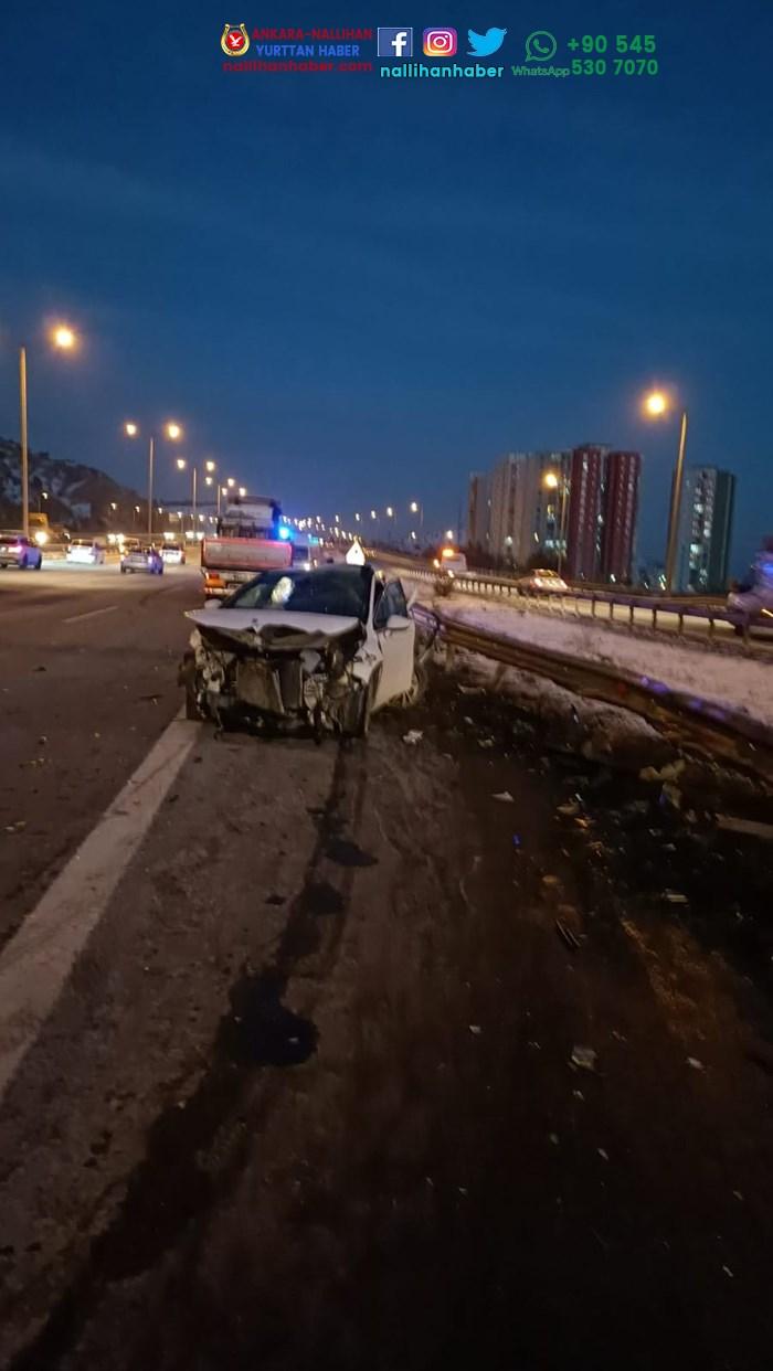 Ankara'da iki farklı kaza! Yaralılar var!