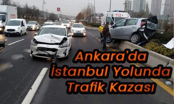 Ankara'da trafik kazası! 4 yaralı var
