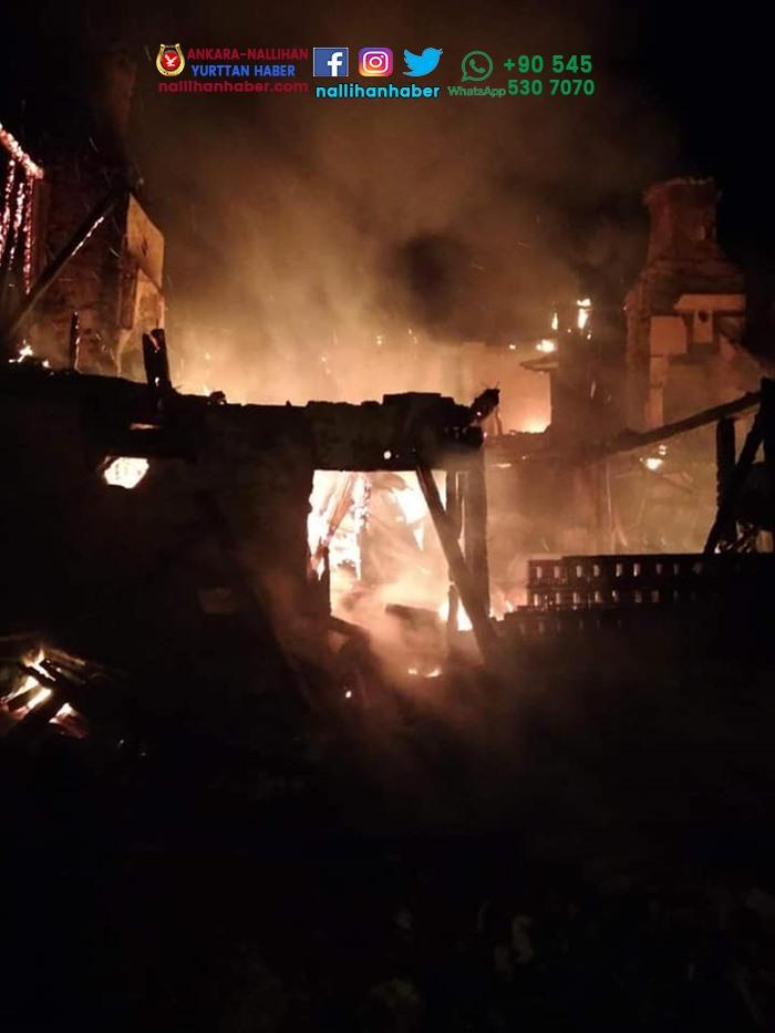 Nallıhan'ın köyünde büyük yangın