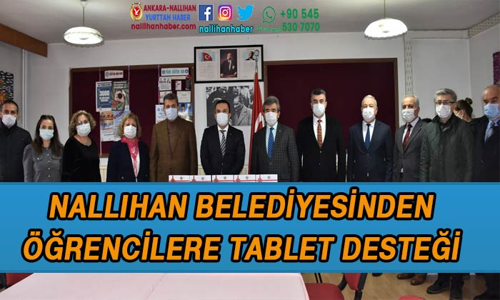 Nallıhan Belediyesinden öğrencilere tablet desteği