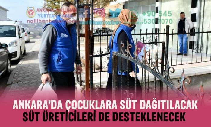 Ankara'da çocuklara süt dağıtılacak