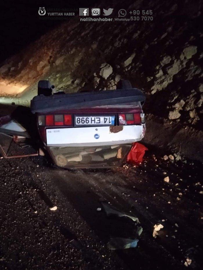 Nallıhan'da araç takla attı! 1 ölü 1 yaralı