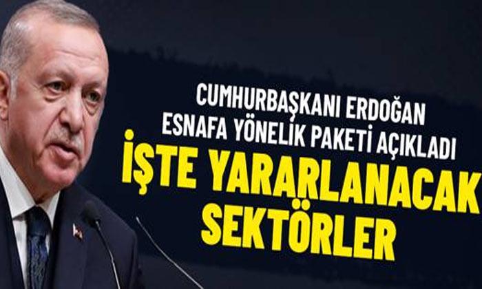 Cumhurbaşkanı Erdoğan Esnafa müjdeler verdi
