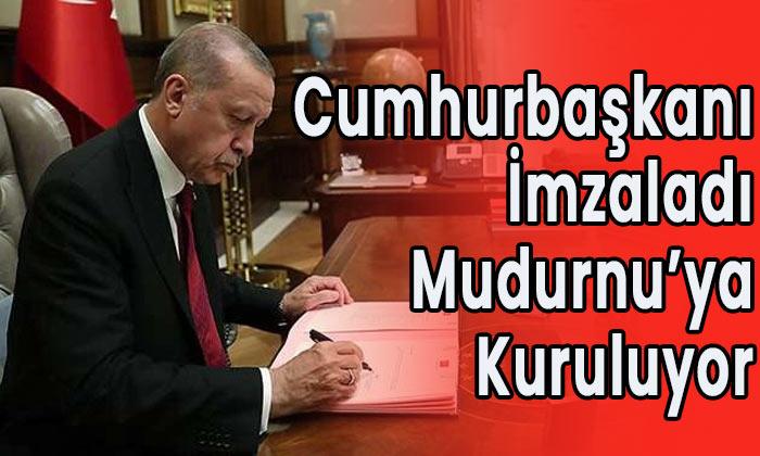 Cumhurbaşkanı imzaladı Mudurnu'ya kuruluyor