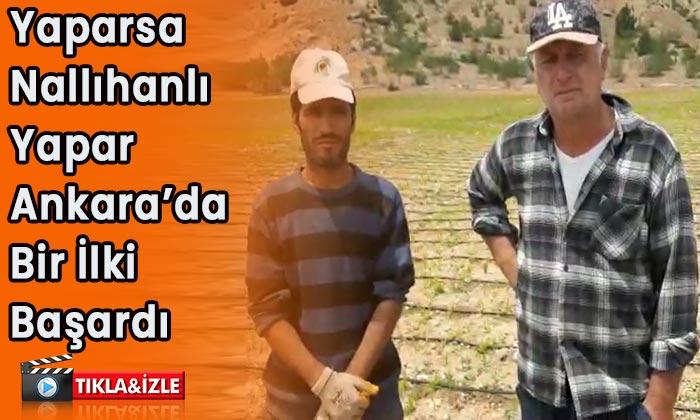 Yaparsa Nallıhanlı yapar Ankara'da bir ilki başardılar