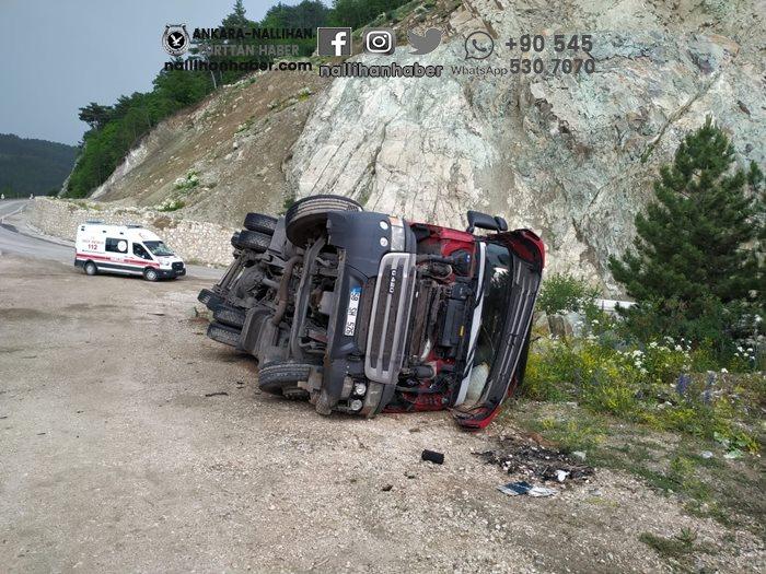 Nallıhan yolunda trafik kazası!