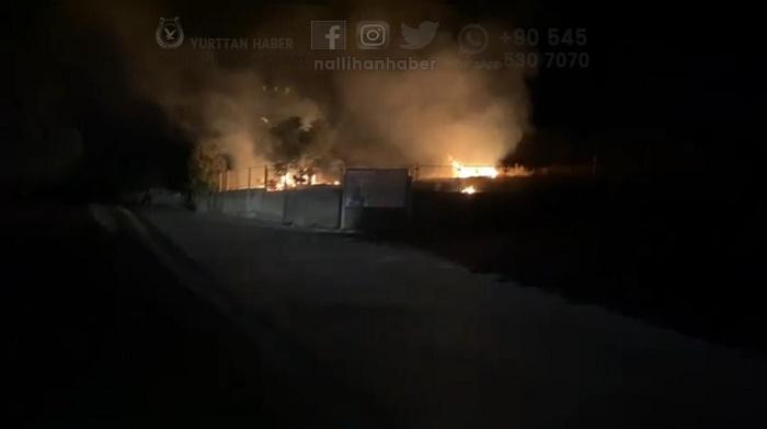 Nallıhan'da trafoda yangın çıktı