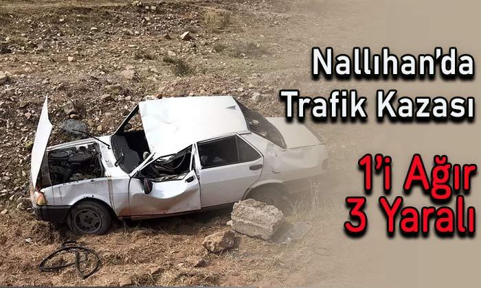 Nallıhan'da trafik kazası! 1'i ağır 3 yaralı